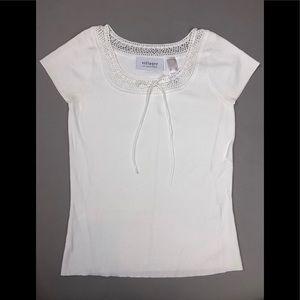Liz Claiborne Tops - Liz Claiborne white sweetheart blouse